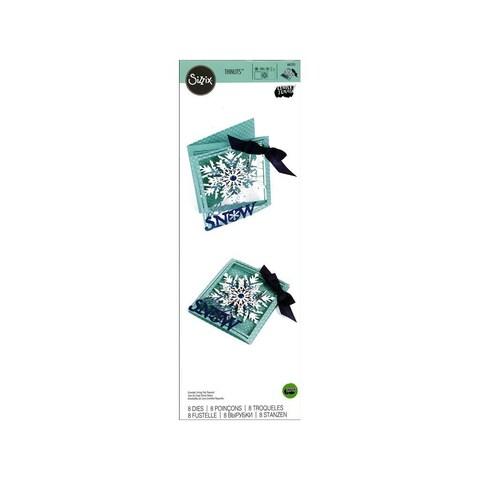 Sizzix LSerata Thinlits Die TriFold Card Snowflake