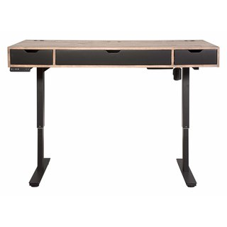 Moddus Brown Wood and Metal Standing Desk