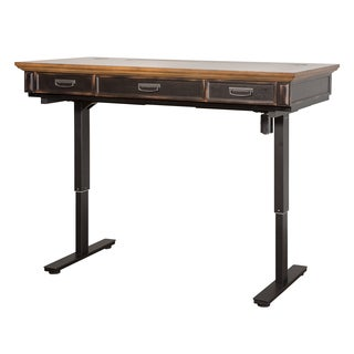 Hartman Brown Metal/Wood Standing Desk