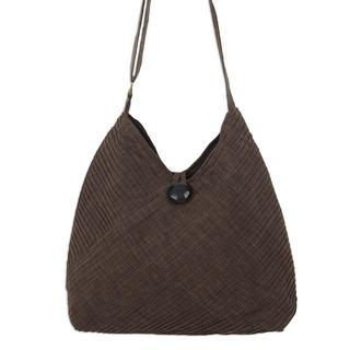 Cotton Shoulder Bag, 'Let'S Go' (Thailand)