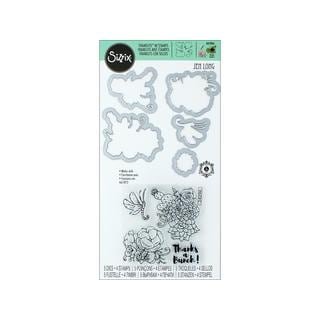 Sizzix JLong Framelits Blooming Cactus Dies and Stamps