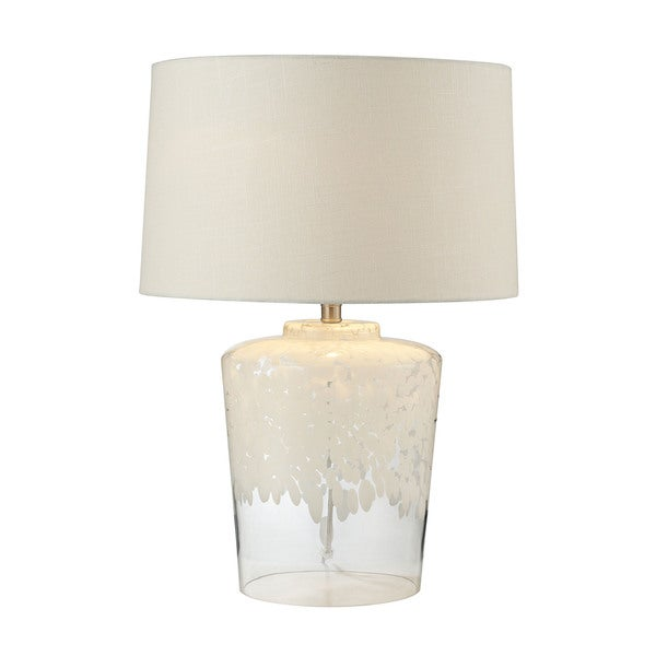 Dimond Lighting Tall Flurry Frit Well Boutique Glass Lamp