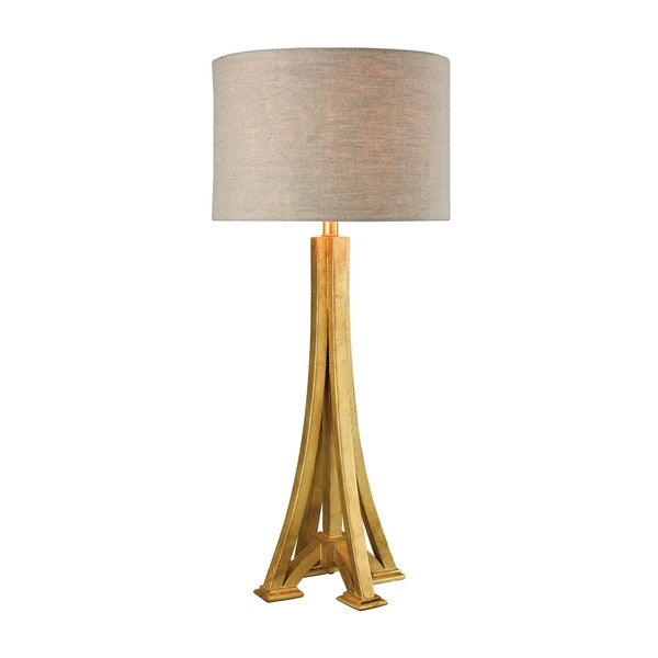 Dimond Lighting L'Expo Antique Gold Leaf Wood/Metal Table Lamp