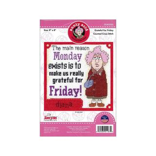 Janlynn Cross Stitch Kit Aunty Acid GratefulFriday