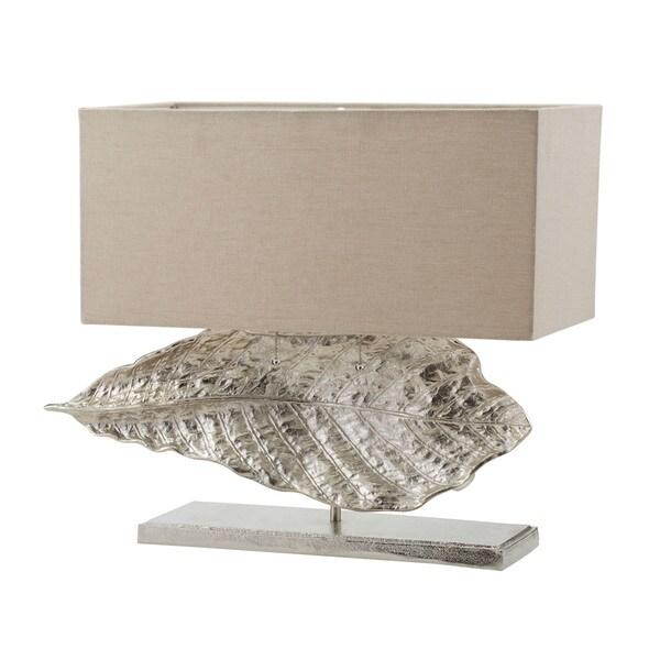 Dimond Lighting Beige Metal Wide Leaf Table Lamp