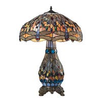 Dimond Lighting Dragonfly Tiffany Glass 26-inch Table Lamp