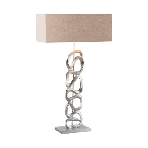 Dimond Lighting Essence Silver Metal Table Lamp