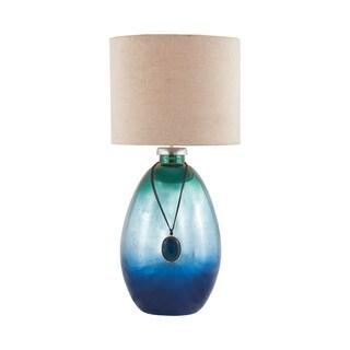 Dimond Lighting Kingfisher Glass and Metal Table Lamp