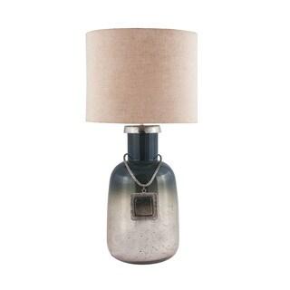 Dimond Lighting Grey Glass and Metal Table Lamp