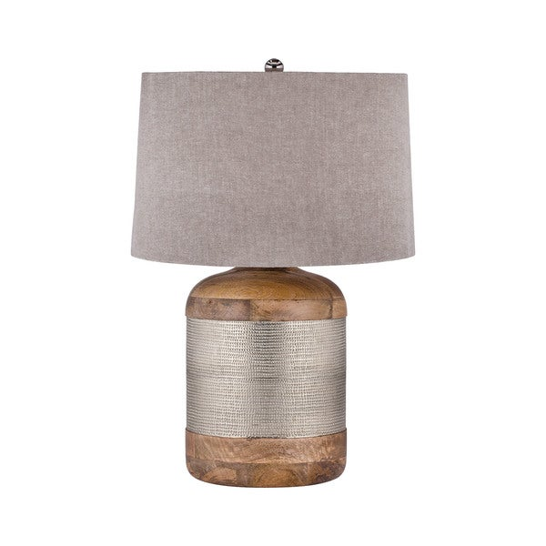 Dimond Lighting German Silver Drum Table Lamp
