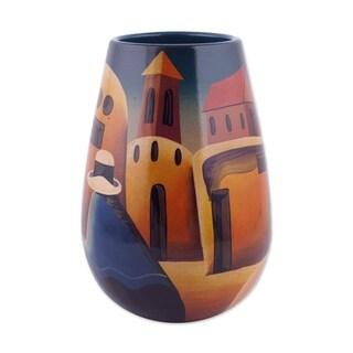 Ceramic Vase, 'Convent Girl' (Peru)
