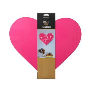 K&Co Chalk It Now Chalkboard Heart 12x10.5 HotPink