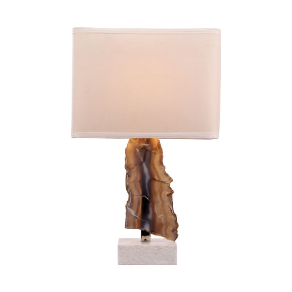 Dimond Lighting Minoa Stone and Metal Natural Table Lamp