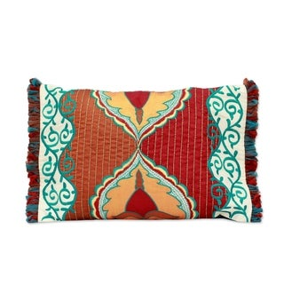 Cushion Covers, 'Spring Symphony' (Pair) (India)