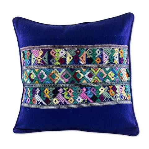 Handmade Cotton Cushion Cover Quiche Birds (Guatemala)