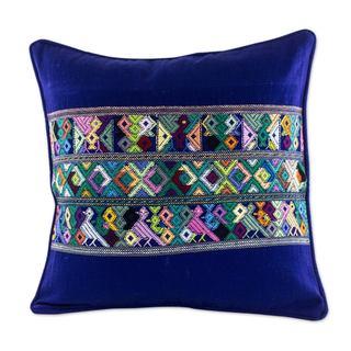 Handmade Cotton Cushion Cover Quiche Birds (Guatemala)