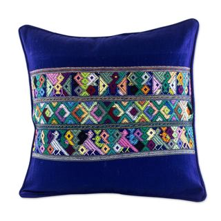 Cotton Cushion Cover, 'Quiche Birds' (Guatemala)
