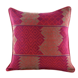 Cotton Cushion Cover, 'Red Delight' (Guatemala)