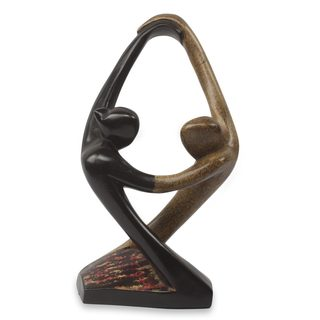 Wood Sculpture, 'Salsa Dance' (Ghana)