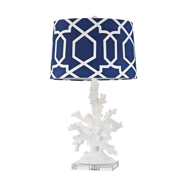 Dimond Lighting Trunk Bay Gloss White Table Lamp
