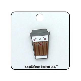 Doodlebug Cream & Sugar Collectible Pins Cup O' Jo