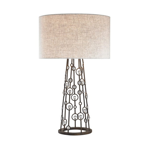 Dimond Lighting Boheme Burnley Bronze Metal 28-inch Table Lamp