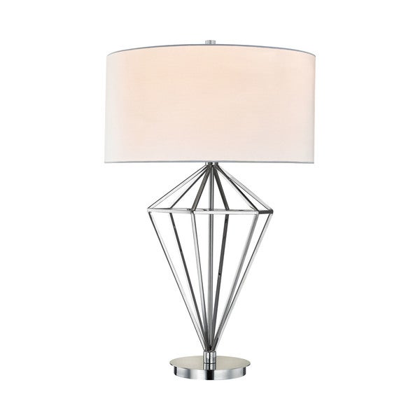 Dimond Lighting Adele Polished Nickel Metal Table Lamp