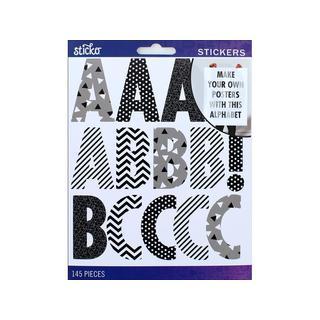 EK Sticko Sticker Alpha Futura Reg XL MultiBlk&Wht