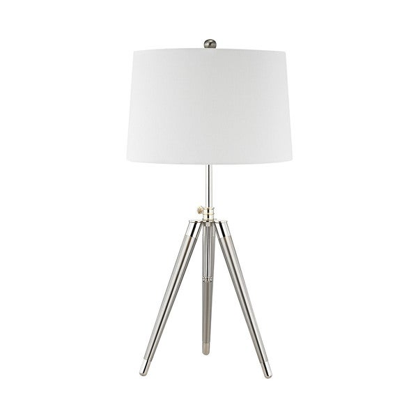 Dimond Lighting Academy Satin Nickel Metal and Linen Table Lamp