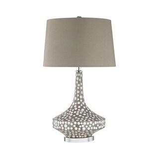 Dimond Lighting Gigi Grey Polkadot Glaze Table Lamp