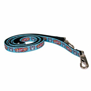 Red Haute Horse I Luv My Horse Blue on Black Nylon Reins (English Or Western)