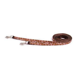 Red Haute Horse Giraffe Pink on Brown Nylon Reins (English Or Western)