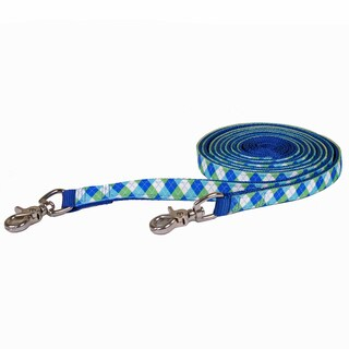 Red Haute Horse Blue/Green Argyle on Blue Nylon Reins (English Or Western)