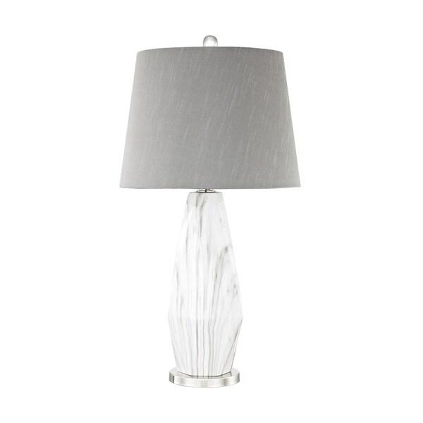 Dimond Lighting Sochi Polished Nickel Metal and Ceramic Table Lamp