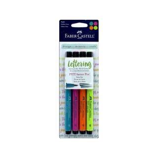 FaberCastell Pitt Artist Pen Set Letering Bright