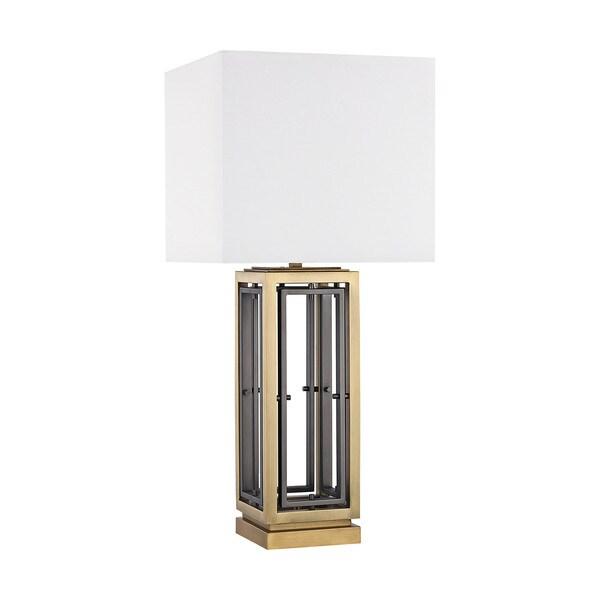 Dimond Lighting Hancock Park Antique Brass Metal Table Lamp
