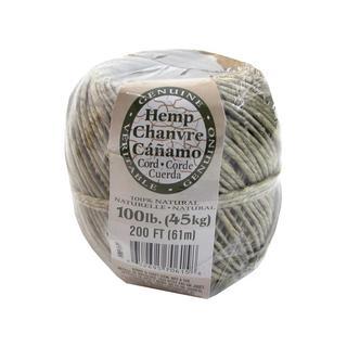 Darice Hemp Cord Ball Natural 100# 200ft