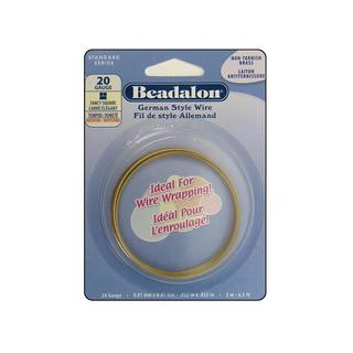 Beadalon German Style Wire Sq F 20ga Brass 2M