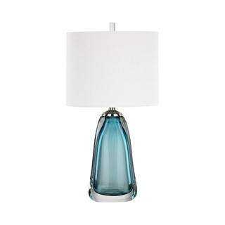 Dimond Lighting Ms. Poole Blue Glass Table Lamp