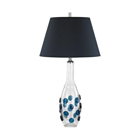 Dimond Lighting Confiserie Navy Shade Glass Medallions Table Lamp