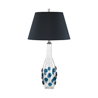 Dimond Lighting Confiserie Navy Shade Glass Medallions Table Lamp