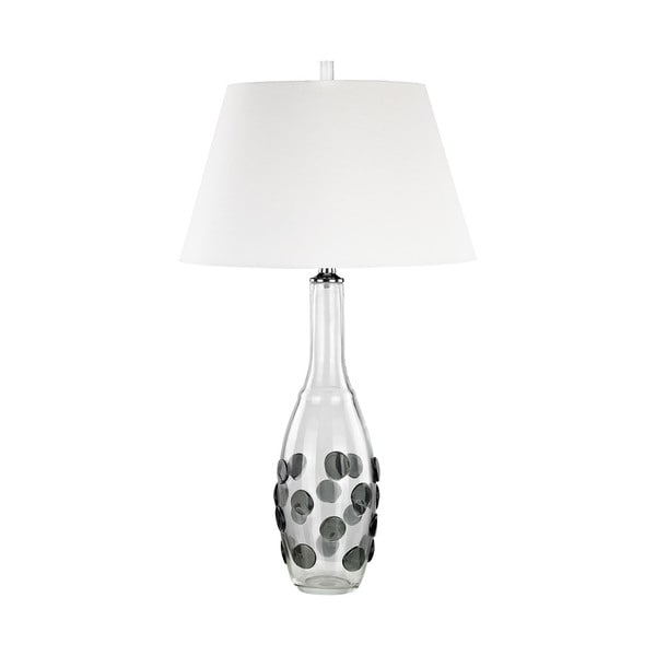 Dimond Lighting Grey Confiserie Table Lamp with White Shade