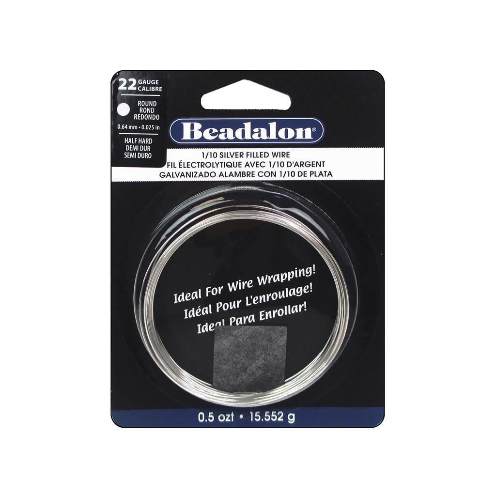 Beadalon Wire 1/10 Silver Fill Half Hard Rnd 22Ga (Jewelr...