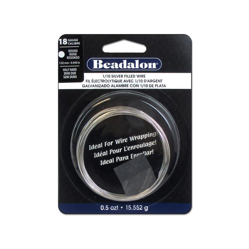 Beadalon Wire 1/10 Silver Fill Half Hard Rnd 18Ga (Jewelr...