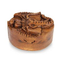 Wood Puzzle Box, 'Auspicious Ganesha' (Indonesia)