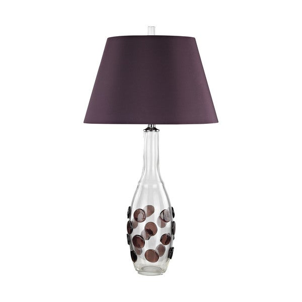 Dimond Lighting Garnet Confiserie Glass Table Lamp with Garnet Shade
