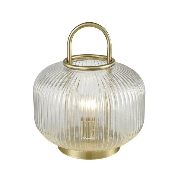 Dimond Lighting Holmby Hills Antique Brass Metal and Glass Table Lamp