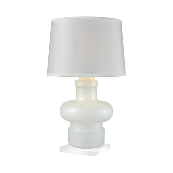 Dimond Lighting Sugar Loaf Cay Milk Glass Table Lamp