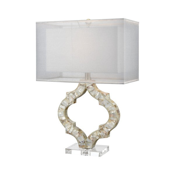 Dimond Lighting San Sebastian Ivory Shell and Crystal Table Lamp