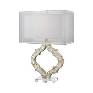 Dimond Lighting San Sebastian Ivory Shell and Crystal Table Lamp